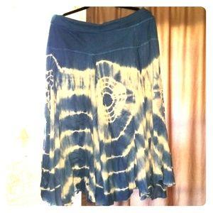 Gypsy Hippie Bohemian tie dye Skirt Xl to 1x